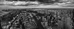 Buenos Aires Skyline in Black and White | 111109-1-jikatu (jikatu) Tags: street city sunset sky bw panorama cloud storm building argentina architecture train canon river tren atardecer calle arquitectura buenosaires nikon published air edificio renault tormenta museo palermo nube puertomadero libertador aerea vias riodelaplata ciuidad 1424mm canon5dmkii jikatu baikovicius