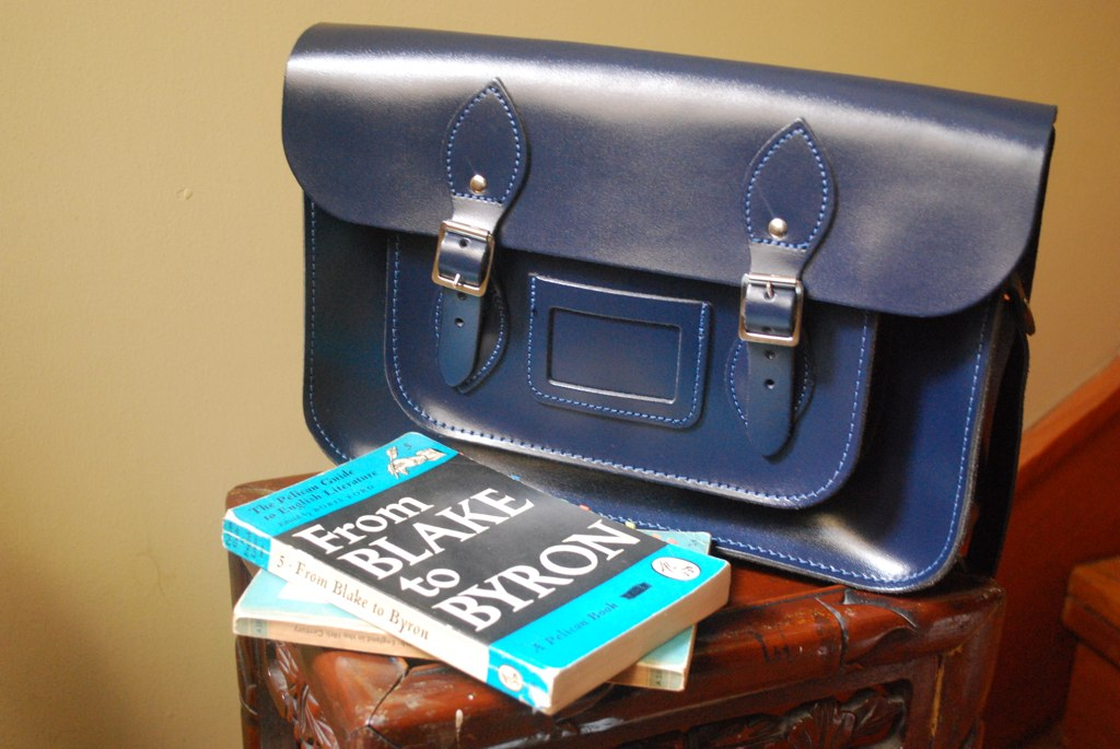Leather Satchel Company loch blue old school leather satchel review