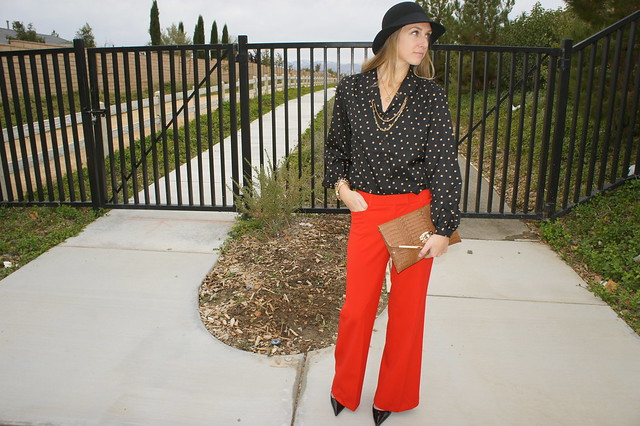 Red Express Dress pants outfit