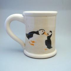 Puffin Stein/Mug front (agru) Tags: cup mugs ceramics clay mug jewish pottery stein judaica kiddushcup