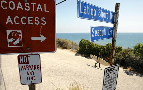 unreal parking signs, Malibu, California