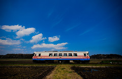 Nostalgic Train (Yohsuke_NIKON_Japan) Tags: japan train nikon sigma railway bluesky  nostalgic d60 10mm    ibaragi    gettyimagesjapanq4