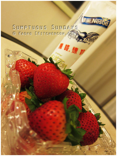 Sumptuous Sundays: Strawberries and Condensed Milk