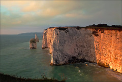 Studland Sunrise (jo92photos) Tags: uk sea england sunrise dawn coast chalk cliffs erosion dorset studland weathering oldharryrocks jurrasiccoast ©allrightsreserved handfastpoint myfuji jo92photos gettyimagesartistpicks hs20exr