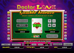 Doctor Love Slots Gamble Feature