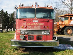 OLD OREN FIRETRUCK IN 2011 (richie 59) Tags: autumn usa america truck outside us automobile unitedstates rusty headlights firetruck faded chrome trucks newyorkstate headlight oldtruck automobiles oren obsolete wornout nystate frontend hudsonvalley redtruck 2door motorvehicles fadedpaint oldtrucks ulstercounty 2011 rustyoldtruck twodoor americantruck glasco abandonedtruck midhudsonvalley rustyoldtrucks oldfiretruck ulstercountyny redtrucks 1960struck ustrucks ustruck oldrustytruck americantrucks abandonedtrucks longabandoned oldrustytrucks richie59 1970strucks 1970struck 1960strucks glascony nov2011 nov202011 orenfiretruck