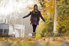 Walking the Track (Daniel Kepple) Tags: november autumn fall pennsylvania traintracks denver leafs feedmill portraitontracks