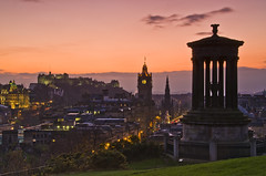 A classic Edinburgh sunset