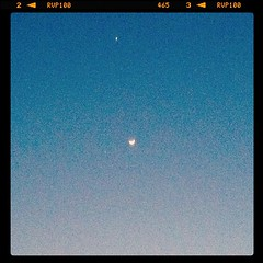 Venus, Jupiter, and The Moon say hello