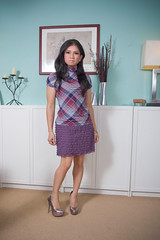 once in a while plaid (bethantics) Tags: wardroberemix whatiworetoday todaysoutfit silverplatformheels purpleruffletieredskirt