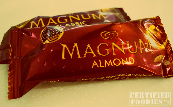 Magnum Ice Cream - Vanilla ice cream coated with Belgian chocolate