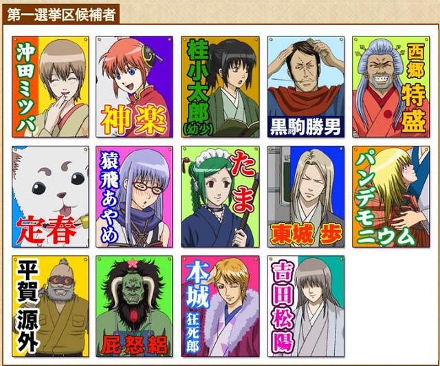 大選決勝倒數!銀魂人氣角色商品化最終戰!