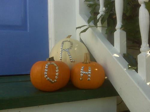 monogrammed pumpkins 2