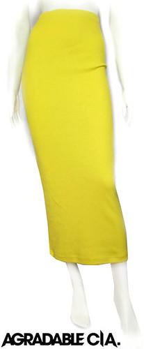 maxi falda tubo