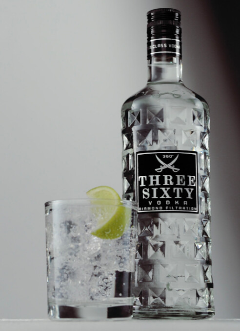 three sixty vodka tonic