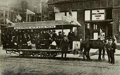 Horse-Drawn Streetcar, 1889