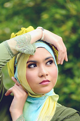 cute green beauty pose model nikon bokeh hijab style prince muslimah