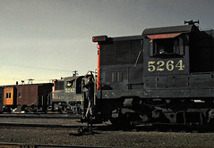 SP 5264 and 5242 R'ville Jan '68..... (drewj1946) Tags: sp southernpacific roseville