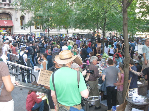 Crowd at Occupy Wall Street