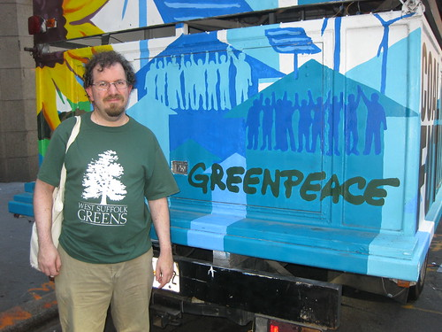 frmr Green Party NYS co-chair Ian Wilder at OWS