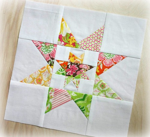 Double star block for beebolt - charity block from Sewing Summit