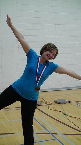 jackie gets a medal at york! by westdale fencing club