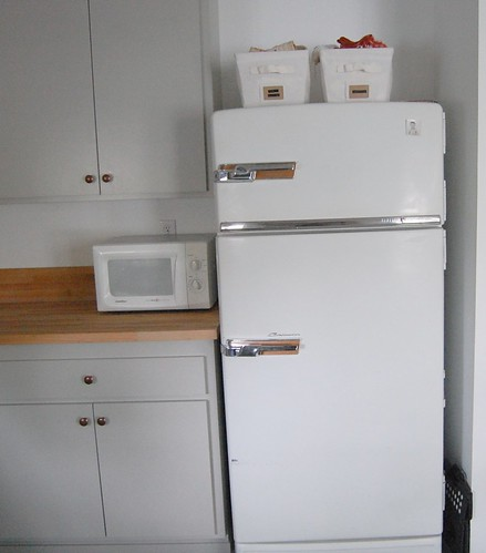 vintage general electric refrigerator
