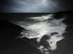 Dark Elements (kenny barker) Tags: seascape water landscape coast scotland rocks waves fife spray panasonic le g1 legacy elie coastuk crazygeniuses