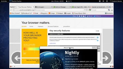 IE9 ou Mozilla Firefox 10.0 pré alpha ?