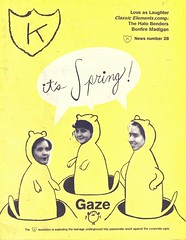 K News #28 (Wires In The Walls) Tags: cover scanned 28 gaze newsletter 1990s krecords rosemelberg humanfaces animalbodies meganmallett mikohoffman