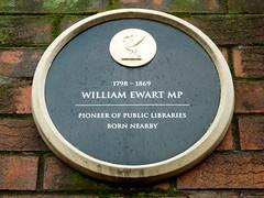 Photo of William Ewart black plaque