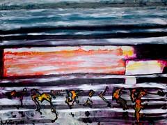 rennen gegen die zeit (Natalie Vogel Malerei) Tags: meer wasser kunst hamburg zürich bilder acryl malen malerei zeichnen ölbild ölbilder natalievogel