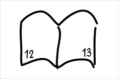 ページ番号入りノート