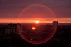 Circle ( Angeles Antolin ) Tags: red sun ontario canada sol sunrise circle rojo angeles amanecer mississauga crculo antolin hoyos