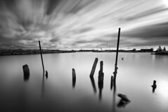 Poles (- David Olsson -) Tags: longexposure blackandwhite bw lake water monochrome port mono sweden harbour karlstad le poles vnern vrmland lcw hamn ndfilter kanikenset davidolsson nd500 lightcraftworkshop kanikenshamnen ginordicoct