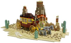 Wild west Stagecoach (Matija Grguric) Tags: cowboy lego creation western wildwest chariot oldwest moc matijagrguric