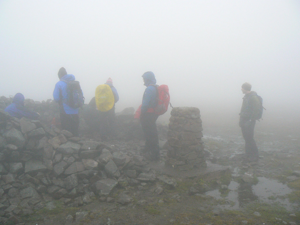 Misty summit of Glas Maol