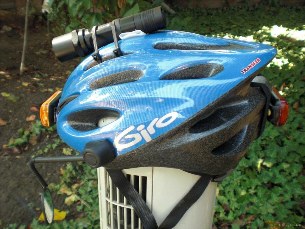 new helmet, side view