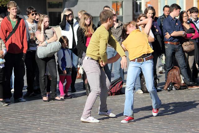 Dansschool van Anne Teresa De Keersmaeker op het Ladeuzeplein