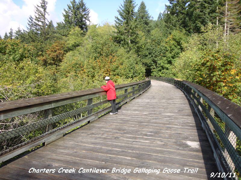 Charters Creek bridge on Galloping Goose Trail