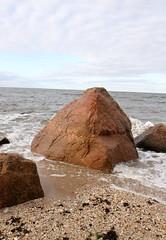 Stony Creek Granite Gneiss (sandy richard) Tags: usa newyork unitedstates geology wildwood calverton wildwoodstatepark sandyrichard longislandgeology sandrarichard