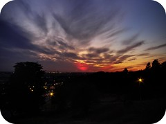 Sunset (18/10/2011) (trisgti) Tags: uk greatbritain blue sunset red england sky cloud colour silhouette canon unitedkingdom dramatic powershot gb essex leighonsea dri hdr s95 expoblending