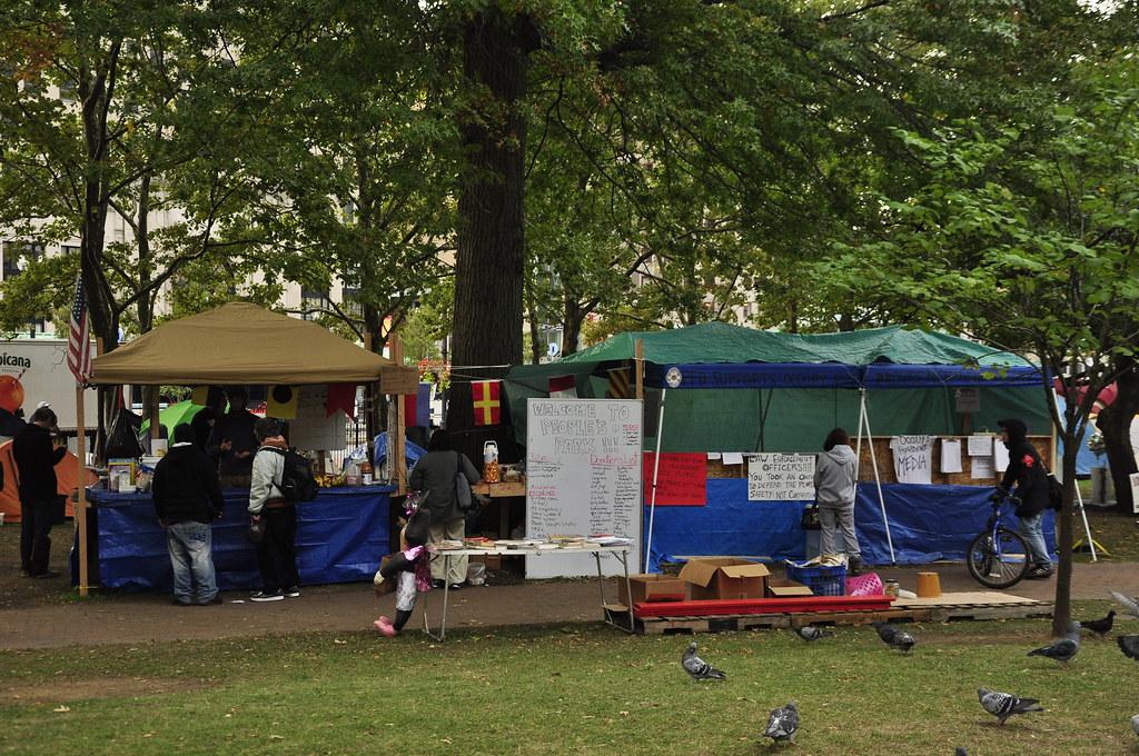 Media & food tents