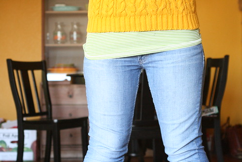 mustard cable knit sweater.