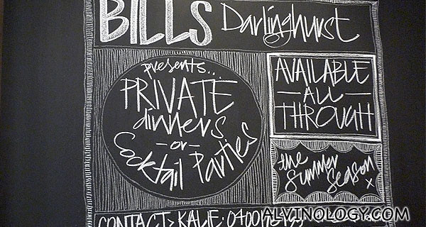Welcome to Bills Darlinghurst!