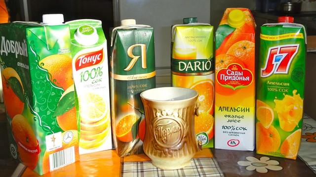 Сравнение апельсиновых соков