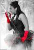 Sarzana Tattoo Show (Lù *) Tags: red portrait blackandwhite color girl nikon zoom bn sing tamron burlesque rosso ritratto canto biancoenero palco 70300 d60 coloreselettivo