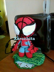 spider sack by xarochita (Xarochita) Tags: spider crochet spiderman sack amigurumi ganchillo sackboy