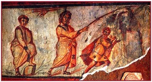 Pintura en Domitilla