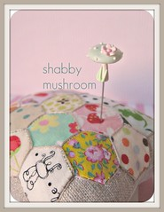 shabby mushroom pin topper (Pinks & Needles (used to be Gigi & Big Red)) Tags: sculpture holiday sculpted 2011 etys gigiminor pinksandneedles pintoppers pintopper